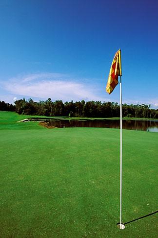 image 2-545-33 Alabama, Robert Trent Jones Golf Trail, Mobile, Magnolia Grove, 10th hole, Falls