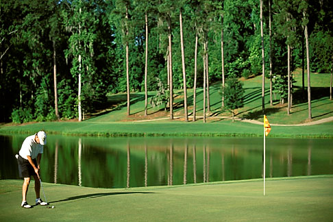 image 2-555-31 Alabama, Robert Trent Jones Golf Trail, Greenville, Cambrian Ridge, 4th hole, Sherling