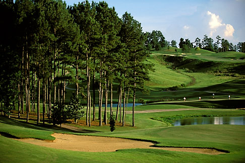 image 2-555-84 Alabama, Robert Trent Jones Golf Trail, Greenville, Cambrian Ridge, 8th hole, Sherling