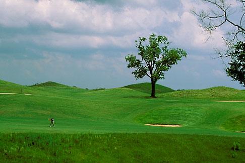 image 2-557-92 Alabama, Robert Trent Jones Golf Trail, Prattville, Capitol Hill, 17th hole, Senator