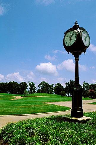 image 2-565-11 Alabama, Robert Trent Jones Golf Trail, Prattville, Capitol Hill, Clock Tower