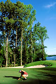 one man only stock photography | Alabama, RTJ Golf Trail, Prattville, Capitol Hill, 18th hole, Judge, image id 2-565-69
