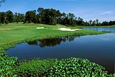 water hazard stock photography | Alabama, RTJ Golf Trail, Prattville, Capitol Hill, 16th hole and lake, Judge, image id 2-565-82