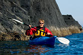red stock photography | Alaska, Kodiak, Kayaking in Monashka Bay, image id 5-650-1329