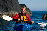 red rock stock photography | Alaska, Kodiak, Kayaking in Monashka Bay, image id 5-650-1333