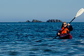 carefree stock photography | Alaska, Kodiak, Kayaking in Monashka Bay, image id 5-650-1339