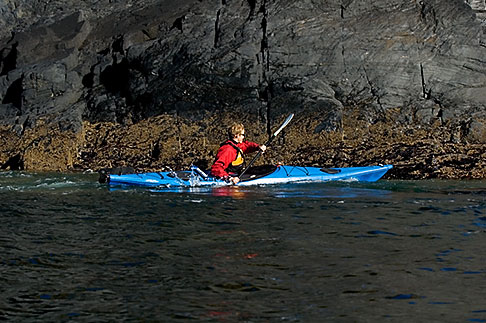 image 5-650-1372 Alaska, Kodiak, Kayaking in Monashka Bay