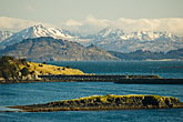 white stock photography | Alaska, Kodiak, Mountains and bay, image id 5-650-1384