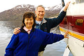 island stock photography | Alaska, Kodiak, Tourists on seaplane, image id 5-650-1522