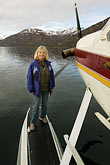 american stock photography | Alaska, Kodiak, Tourist on seaplane, image id 5-650-1525