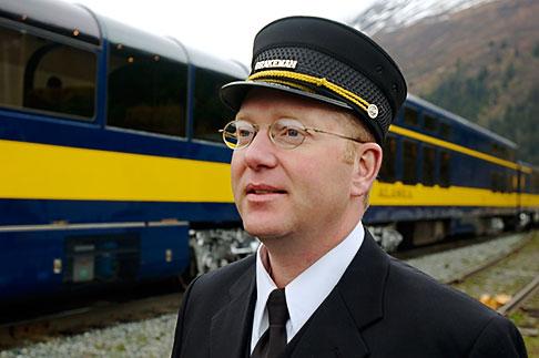 image 5-650-261 Alaska, Anchorage, Alaska Railway conductor