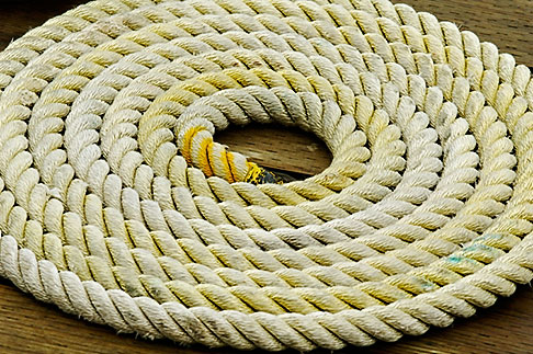 image 5-650-310 Alaska, Prince WIlliam Sound, Rope coil on dock