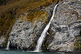 mountain stock photography | Alaska, Prince WIlliam Sound, Waterfall, image id 5-650-3281