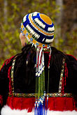colour stock photography | Alaska, Anchorage, Alaskan Native woman with beaded headdress, image id 5-650-3501