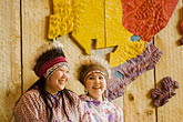 colour stock photography | Alaska, Anchorage, Yupik dancers, Alaskan Native Heritage Center, image id 5-650-3531