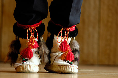 image 5-650-3549 Alaska, Anchorage, Moccasins, Native dancer