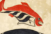 fish painting stock photography | Alaska, Anchorage, Tsimshian design, image id 5-650-3560