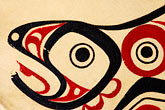 fish painting stock photography | Alaskan Art, Tsimshian design, image id 5-650-3561