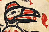 red stock photography | Alaskan Art, Tsimshian design, image id 5-650-3572