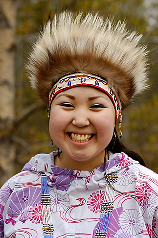 image 5-650-3589 Alaska, Anchorage, Yupik dancer