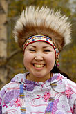 feathered alaskan native dress stock photography | Alaska, Anchorage, Yupik dancer, image id 5-650-3589