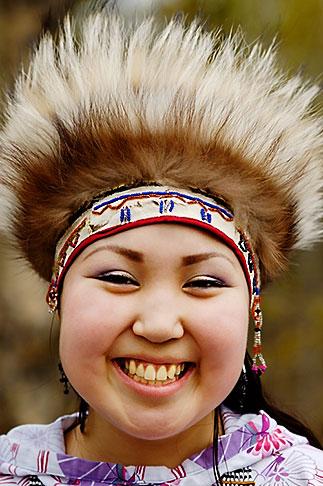 image 5-650-3604 Alaska, Anchorage, Yupik dancer