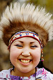 feathered alaskan native dress stock photography | Alaska, Anchorage, Yupik dancer, image id 5-650-3604