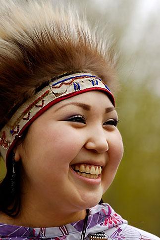image 5-650-3625 Alaska, Anchorage, Yupik dancer