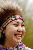 feathered alaskan native dress stock photography | Alaska, Anchorage, Yupik dancer, image id 5-650-3625