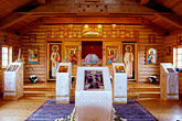 inside stock photography | Alaska, Kodiak, Holy Resurrection Russian Orthodox Church, image id 5-650-3757