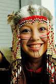 island stock photography | Alaska, Kodiak, Alaskan Native dancer, image id 5-650-3958