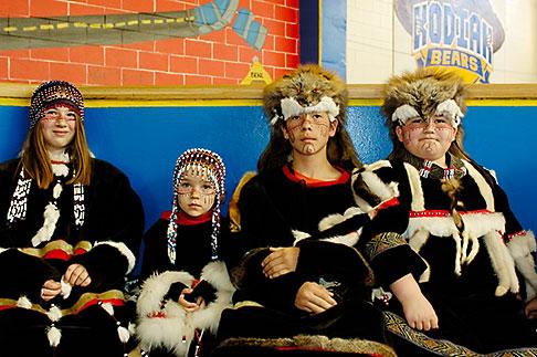 image 5-650-3999 Alaska, Kodiak, Alaskan Native dancers