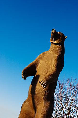 image 5-650-4089 Alaska, Statue of Kodiak bear