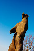 upright stock photography | Alaska, Statue of Kodiak bear, image id 5-650-4089