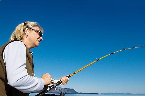 image 5-650-4134 Alaska, Kodiak, Salmon fishing
