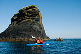 red rock stock photography | Alaska, Kodiak, Kayaking in Monashka Bay, image id 5-650-4214