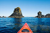 canoes stock photography | Alaska, Kodiak, Kayaking in Monashka Bay, image id 5-650-4232