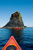 carefree stock photography | Alaska, Kodiak, Kayaking in Monashka Bay, image id 5-650-4237