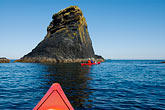 red rock stock photography | Alaska, Kodiak, Kayaking in Monashka Bay, image id 5-650-4238