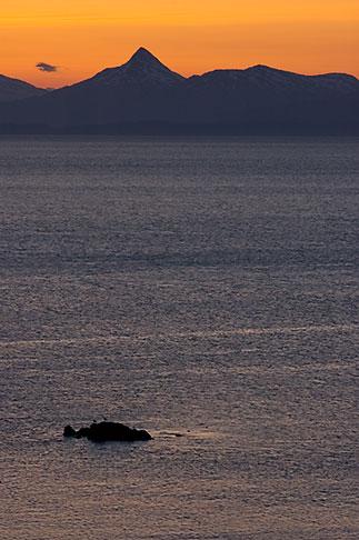 image 5-650-4362 Alaska, Kodiak, Chiniak Bay sunset