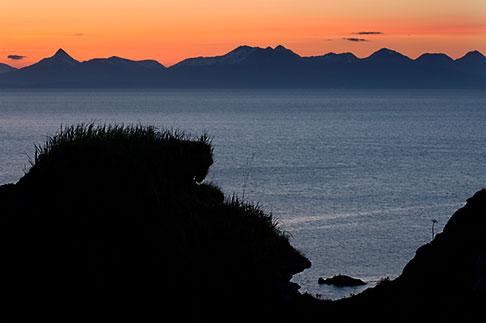 image 5-650-4374 Alaska, Kodiak, Chiniak Bay sunset