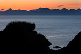 silhouette stock photography | Alaska, Kodiak, Chiniak Bay sunset, image id 5-650-4374