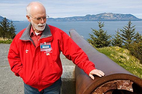 image 5-650-4430 Alaska, Kodiak, Fort Abercrombie State Historical Park, Docent