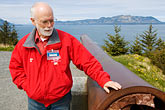 united states stock photography | Alaska, Kodiak, Fort Abercrombie State Historical Park, Docent, image id 5-650-4430