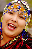 alaskan native heritage center stock photography | Alaska, Anchorage, Alutiiq woman, image id 5-650-589