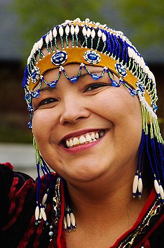 image 5-650-595 Alaska, Anchorage, Alutiiq woman