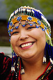 colored beads stock photography | Alaska, Anchorage, Alutiiq woman, image id 5-650-595