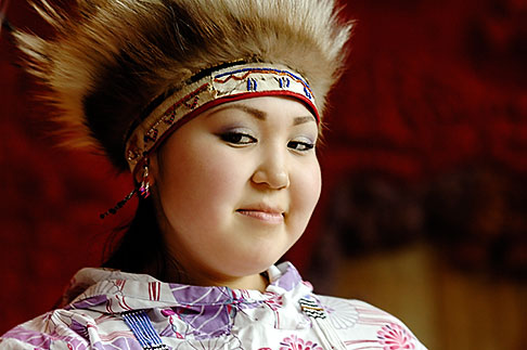 image 5-650-629 Alaska, Anchorage, Yupik dancer