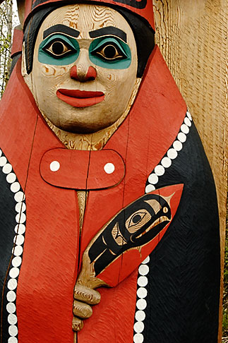 image 5-650-650 Alaska, Anchorage, Totem pole, Alaskan Native Heritage Center