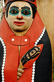 folk art stock photography | Alaska, Anchorage, Totem pole, Alaskan Native Heritage Center, image id 5-650-650